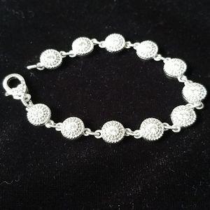 Judith Ripka 925 sterling silver cz bracelet